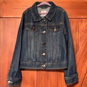 The children's place girls denim jacket L 10–12